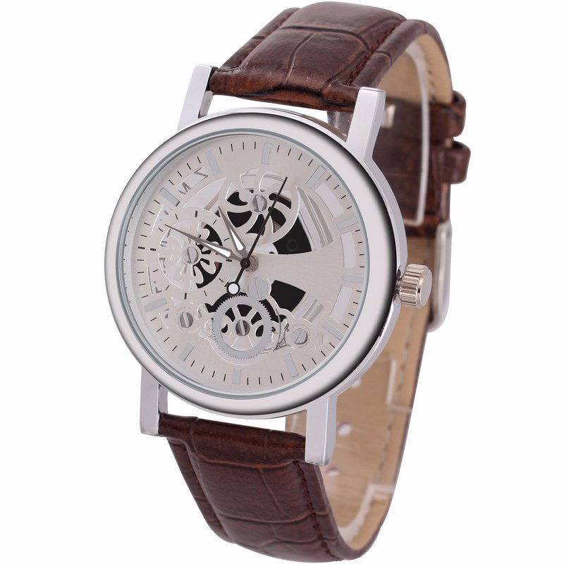Wholesale Prices Luxury Leather Watch Strap Japan Movt Men's Watch For Sale