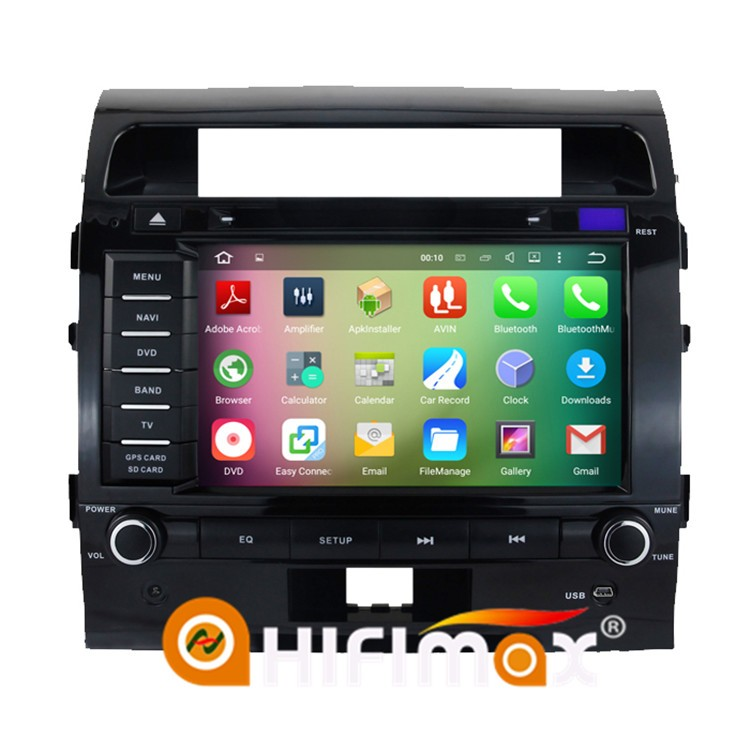 HIFIMAX Android 5.1.1 navigation system for toyota land cruiser 200 dvd gps multimedia player car radio tv dvd