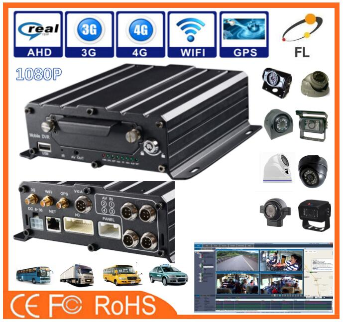 AHD 8channels 720p 1080p with IP Camera MDVR support GPS+4G+WIFI