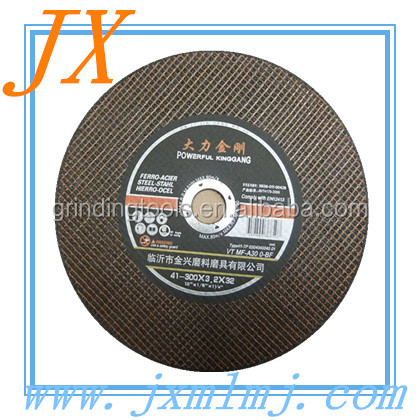 Ginder machine used 12inch thin cutting disk for metal with good sharpness