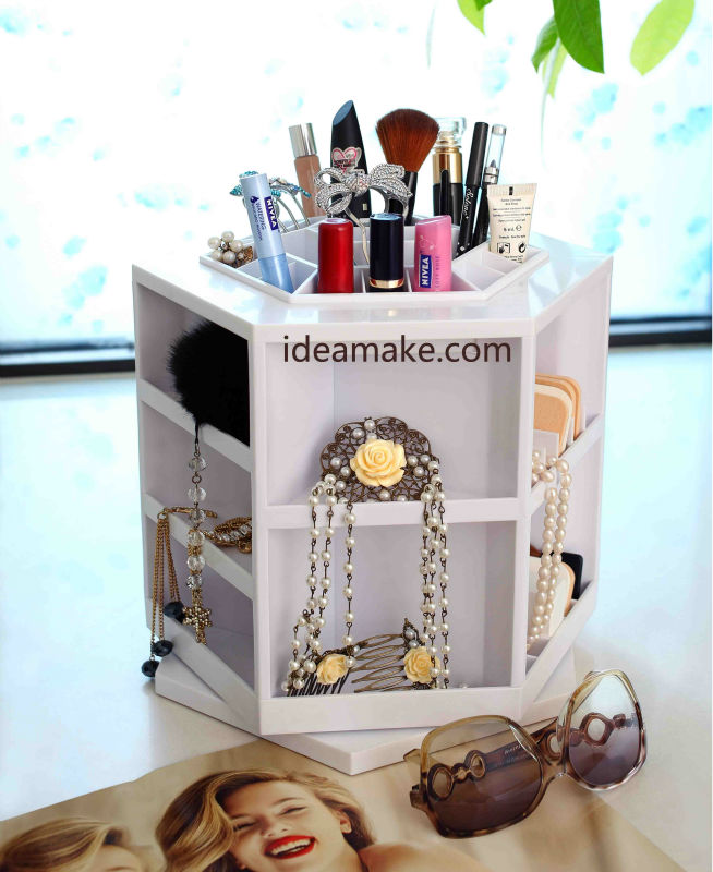 MakeUp Organizer QVC Hot Selling spinning table top makeup organizer