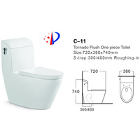 sanitary ware siphonic washdown one piece toilet tornado flush toilet item prices