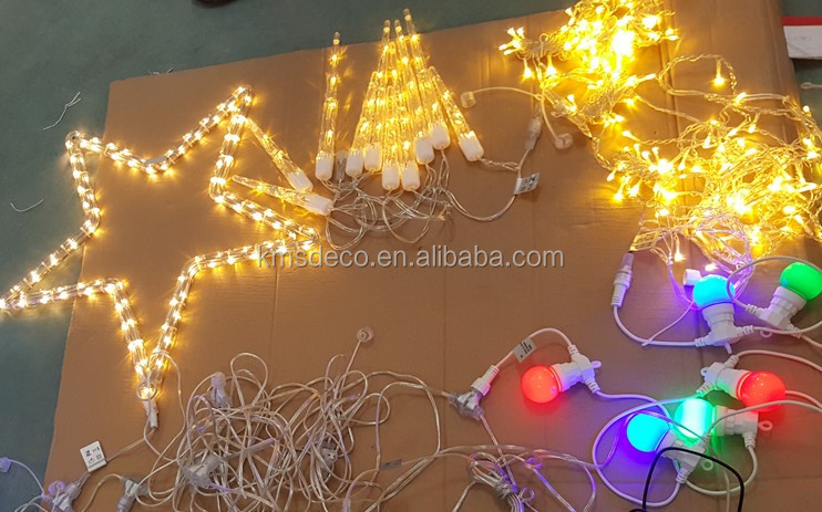 outdoor christmas lights 100l connectable with male female connector