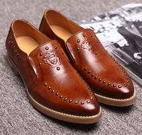 Business Men Fashion Leather Luxury Brand Formal Wearing oxford Shoes
