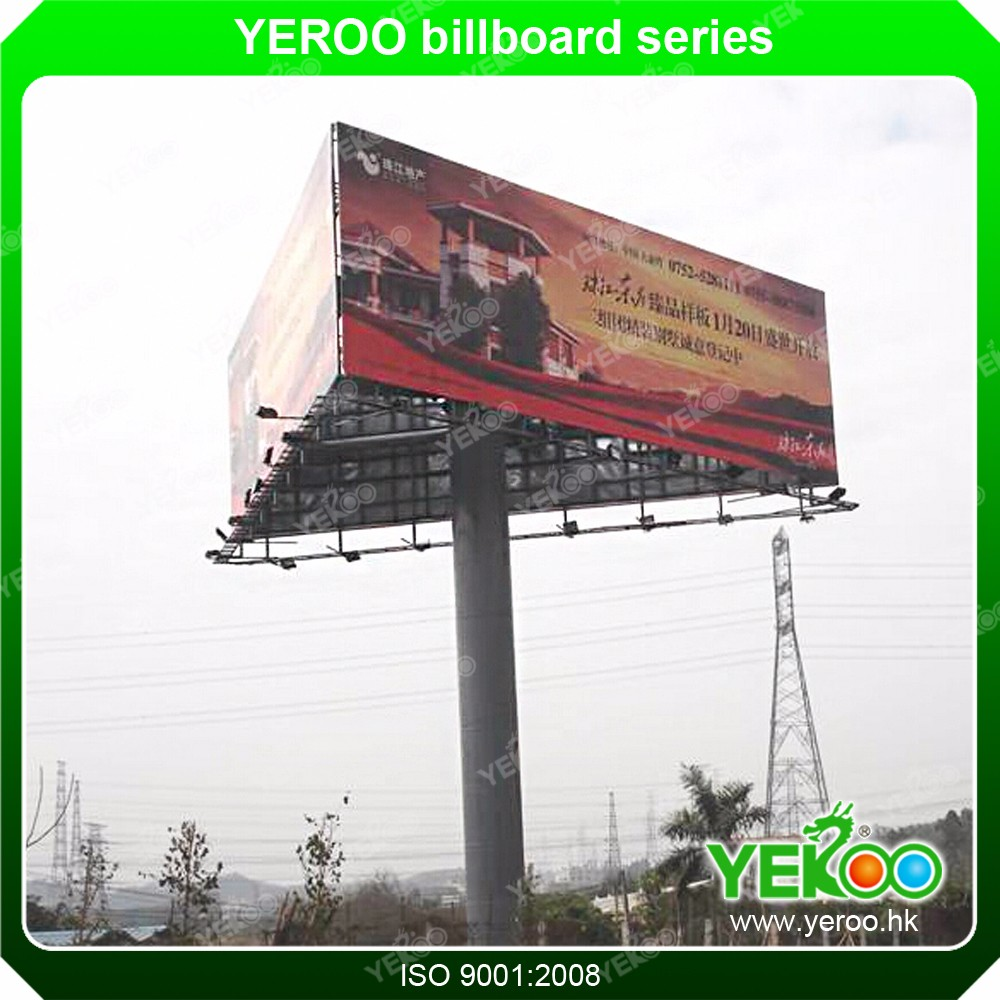 billboard structure design poster advertising steel structure waterproof outdoor led advertising panel price