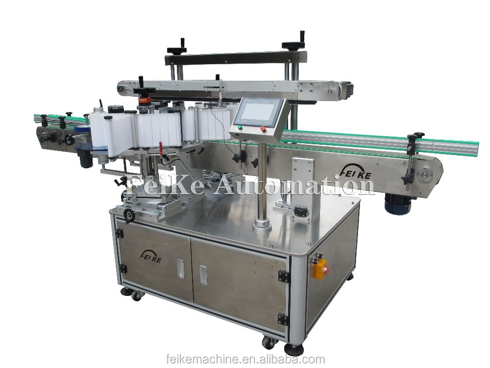 FK911 Automatic Double Sides Square Bottle Labeling Machine with Date Print Function