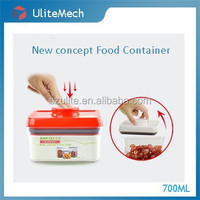 Only one press-button control vacuum sealing dry foods container