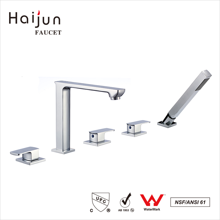 Haijun Unique Products Commercial Deck Mounted Brass Bathtub Shower Faucets