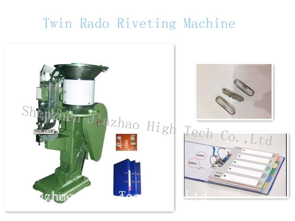 Lever Arch File Making Machine , Twin Rado Riveting Machine