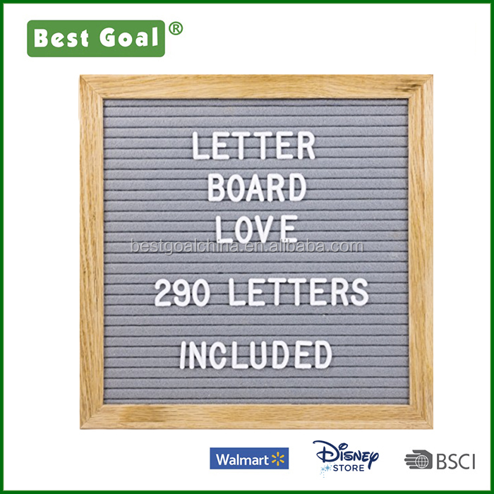 "10"" x 10"" Changeable Letter Board with wood Frame and 290 Letters"