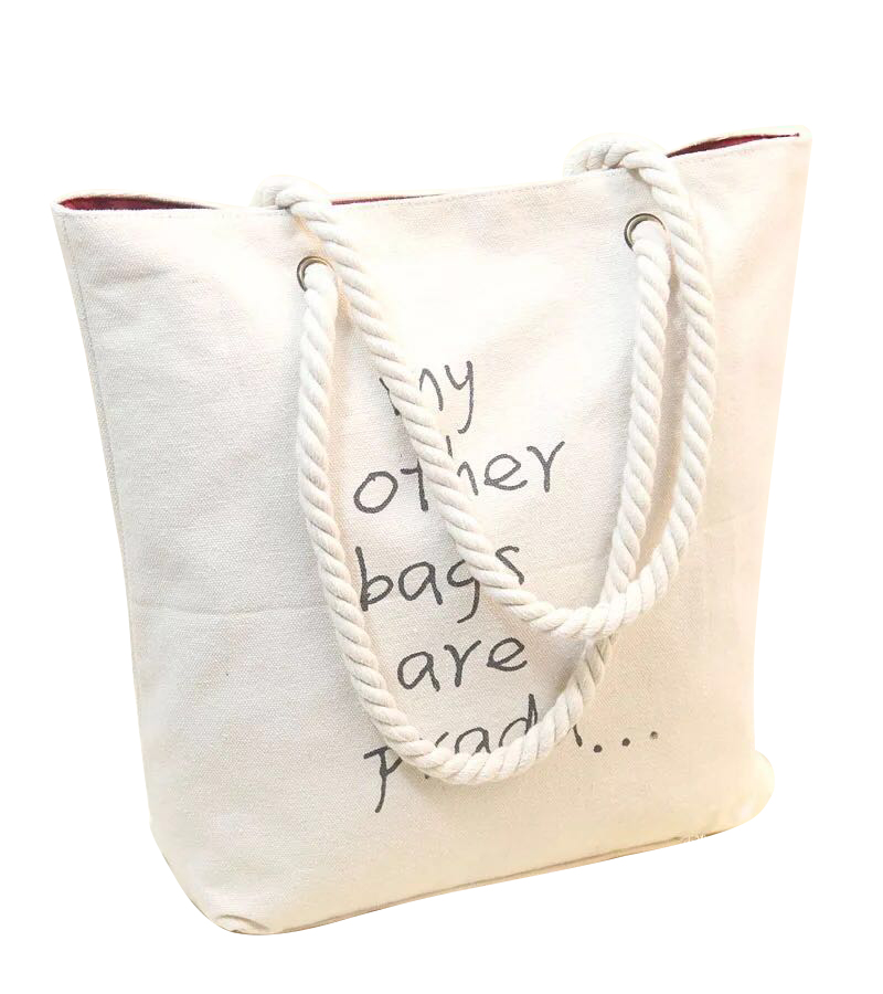 Wholesale White Foldable Reusable Custom Eco Printed Promotional Tote Shopping Cotton Bag with zipper