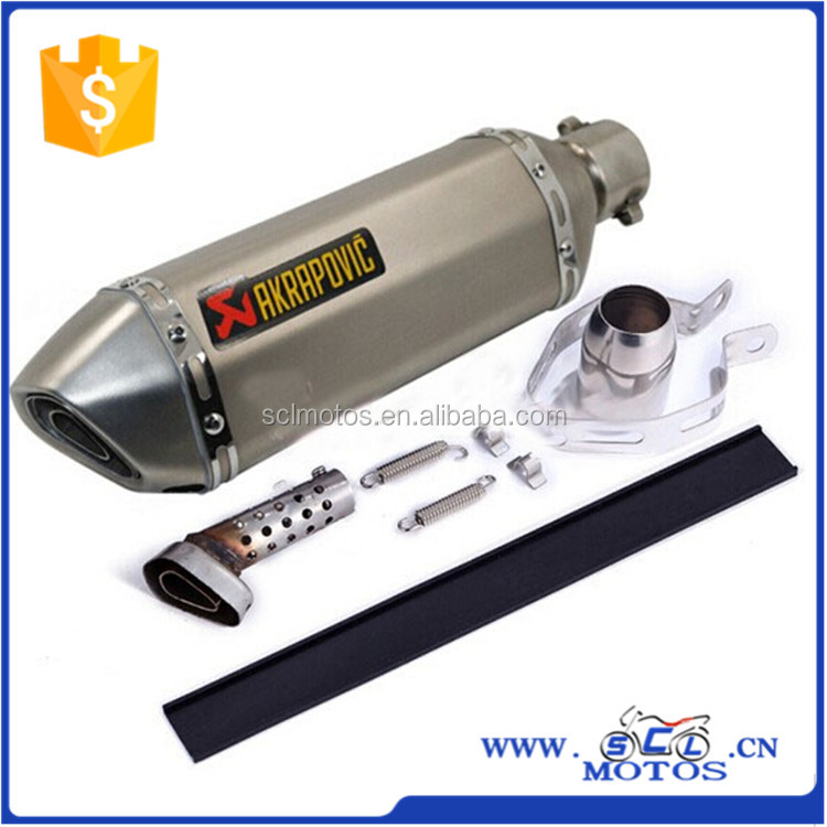 SCL-2015110042 Universal Motorcycle Modify Scooter ATV Akrapovic Exhaust <strong>Muffler</strong> Pipe