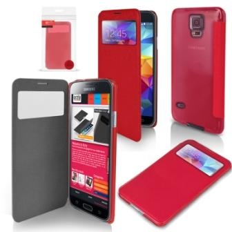 Orzly -Display Case - Galaxy S5 (Red)