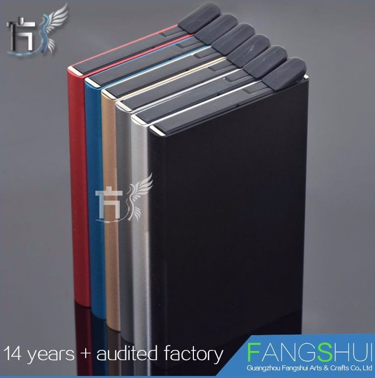 Top quality metal business credit card holder case wallet hot sale