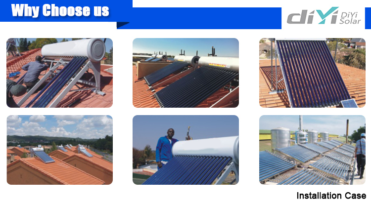 With all-glassed evacuated tubes High Quality Enamel Tank Solar Water Heater Price