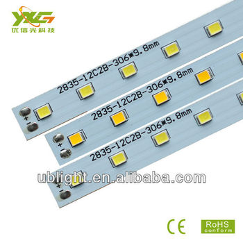 LED Tube Manufacture 23-26lumens/0.2W 2835SMD 306*9.8*1.0mm aluminum 36V 5W 0.3M Tube module