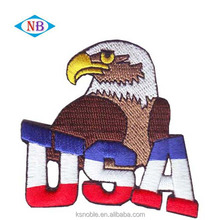 Custom USA style patches, eagle embroidery patches