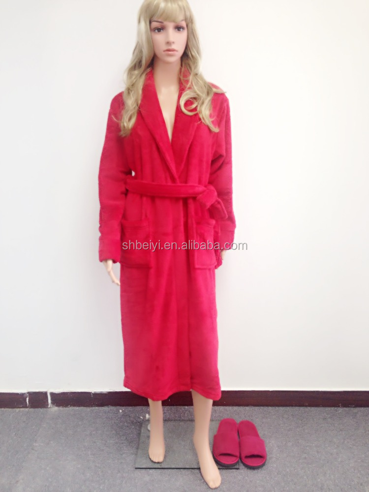 HOT SALE Microfiber Long Style Lady Robe , Pajama