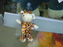 21cm promotional customized stuffed plush giraffe keychain toy with acrylic knitted scarf, plush animal keyring