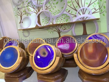 wholesale colorful polished Natural Beautiful Agate Coasters
