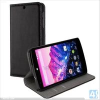 New Products 2014 Wallet Stand Case for Google Nexus 5 Genuine Leather Case P-GGENEXUS5SPCA001