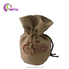 China Manufacturers Supply Small Jute Wine Bag