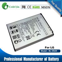 BL-59UH 3.8v 2440mah gb/t 18287-2000 battery for lg G2 mini d610 d618 d620 d620r aa battery verified supplier