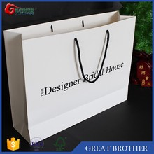 Wholesale custom shopping /gift paper bag ,paper bag for clothing