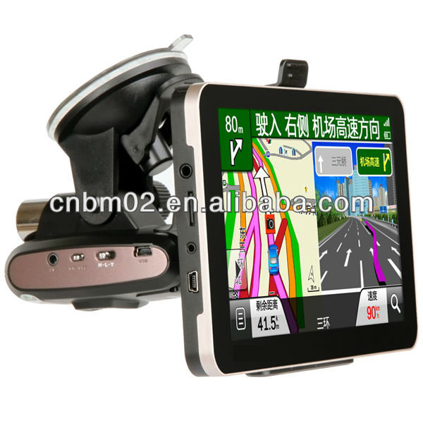 7 Inch Car GPS Navigator Built DVR
