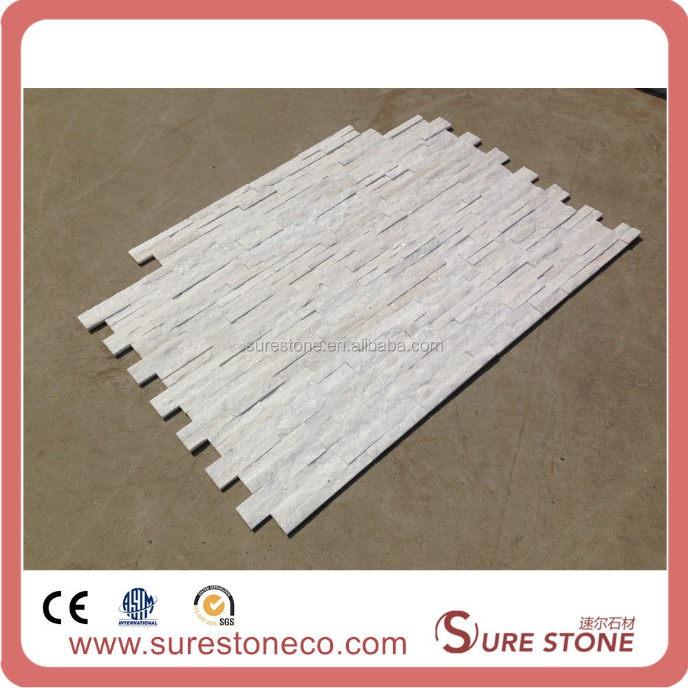 outdoor pure white quartz stone cut-to-size interior wall cladding