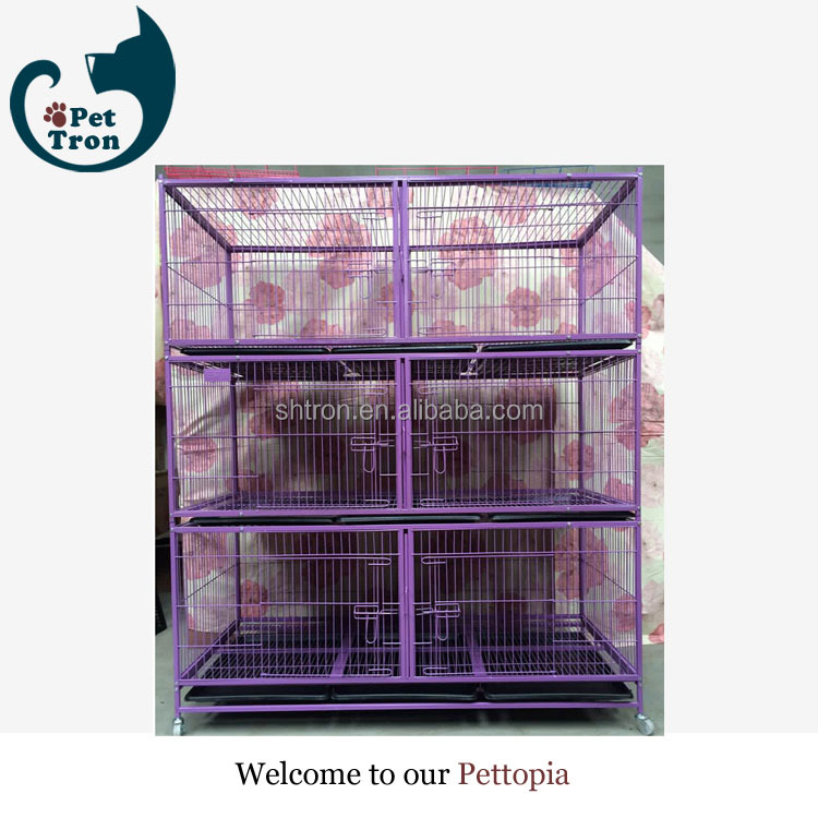 Multi parameter economic wire sloped dog cage