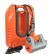 Rechargeable mobile car wash equipment for sale with 75W water pump and 20L water tank