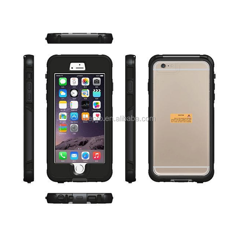 IP68 US Army Shockproof Standard for iPhone 6 Plus 5.5 inch Waterproof Case with Fingerprint