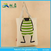 popular canvas reusable shopping tote bag with custom print