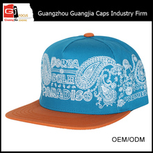 Guangjia Cap Factory Fashion Embroidery Design Custom Fedora Snapback Hats