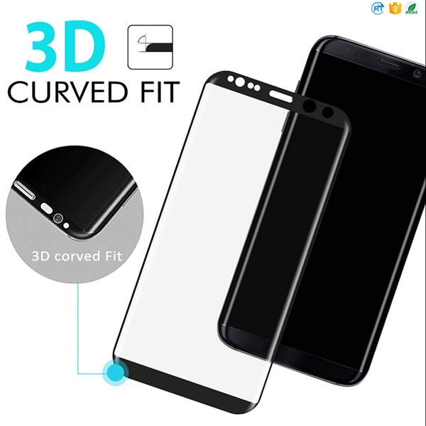 2017 Full Cover 3D Curved Edge for Galaxy S8 Full Body Tempered Glass Screen Protector