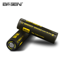 Wholesale Basen BS186M 18650 3500mAh 30A High Drain 3.7v Li-ion Rechargeable Vape Battery