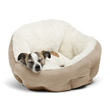eco friendly 100% cotton nest model super comfy oval dog bed for pet sleeping