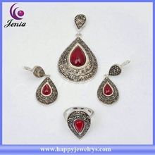 2014 New arrival hot selling fashion jewelry set jewelry settings and mountings sterling silver C8396T2