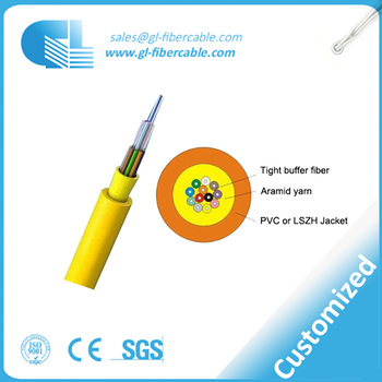 Simplex Tight Buffer 4 Core Armored Indoor Fiber Optic Cable