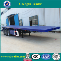 hot 40 ft flatbed container and 40 feet flatbed truck semi trailer made in china