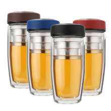 High-grade double wall portable business ideas tumbler glass filter office cup bottles mugs double glass tea water coffee cup