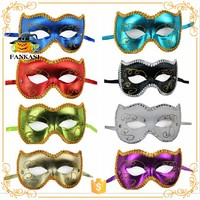 Simple design half face mask for birthday party