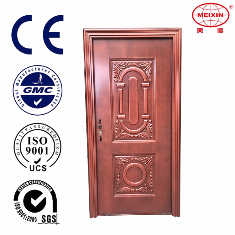 Soundproof Custom color Modern design Front entry door steel doors