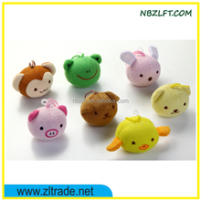 CUTE ANIMAL STUFFED WHISTLE PET TOY BALL WITH FINGER LOOP / DOG CHEW TOYS / PUPPY TOY