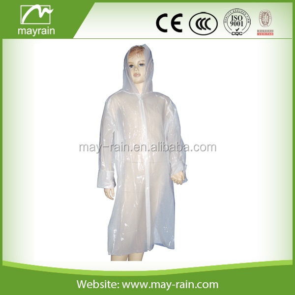 2017 Summer Mayrain PE rain poncho for promotion