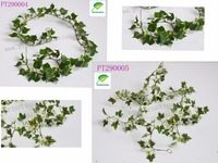 Nature polyester artificial Plant Green / Variegated Ivy leaf Garland Plants vine Home garden wall hanging decoration