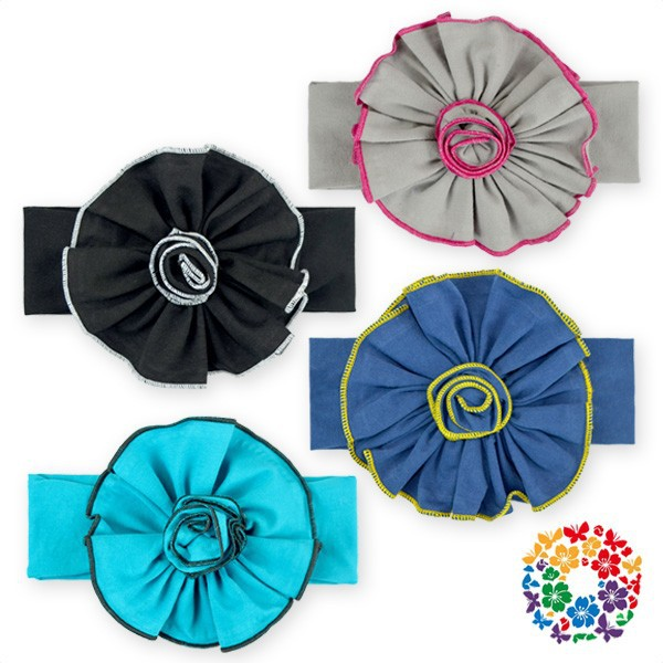 Baby Soft Cotton Headwear Fabric Flower Headband Bow Childrens Fashion Latest Hairband Design Accessories Many Colors For Choice