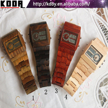 Alarm Stopwatch Digital Wood Watch 4 Colors Gift Bamboo Watches Online Discount