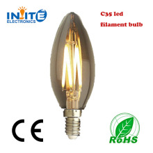 Alibaba express fashion Ningbo factory led bulb for filament inside C35 candle full glass 360 degree king light led